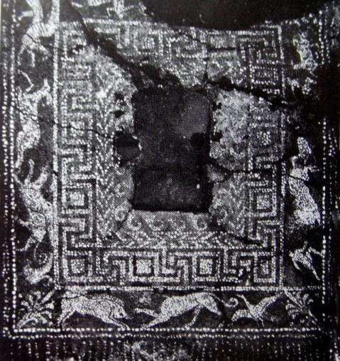 mosaico di ciottoli - olinto caccia