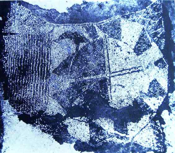 mosaico di ciottoli - olinto ruota