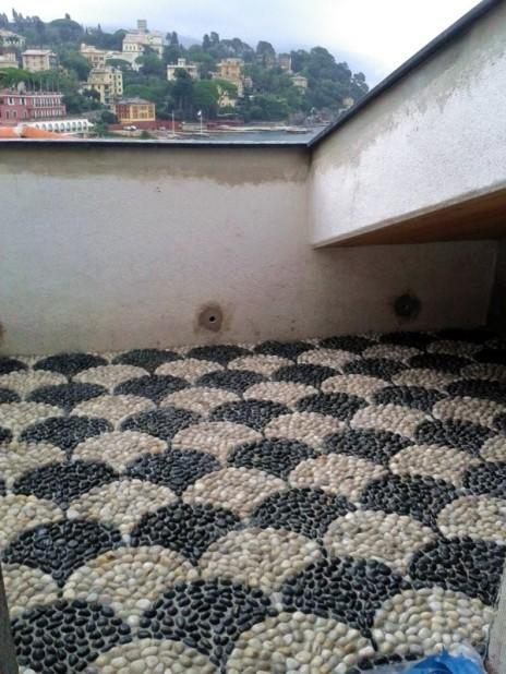 mosaico di ciottoli coda di pavone 4