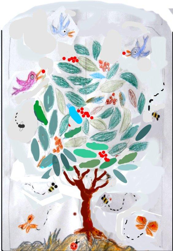albero mosaico