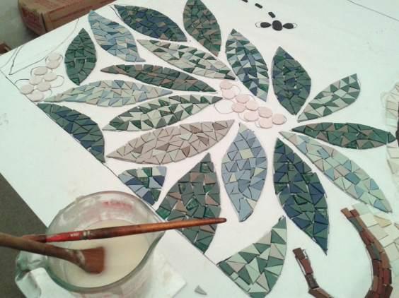 foglie mosaico