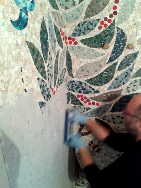 posa di mosaico sui carta