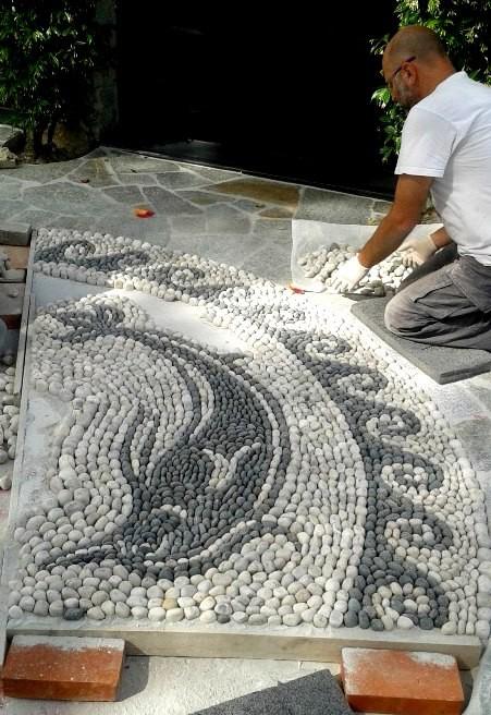 mosaico dei delfini