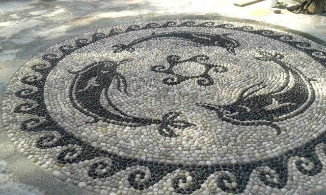 arte del mosaico, delfini