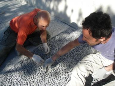 riempimento nero mosaico