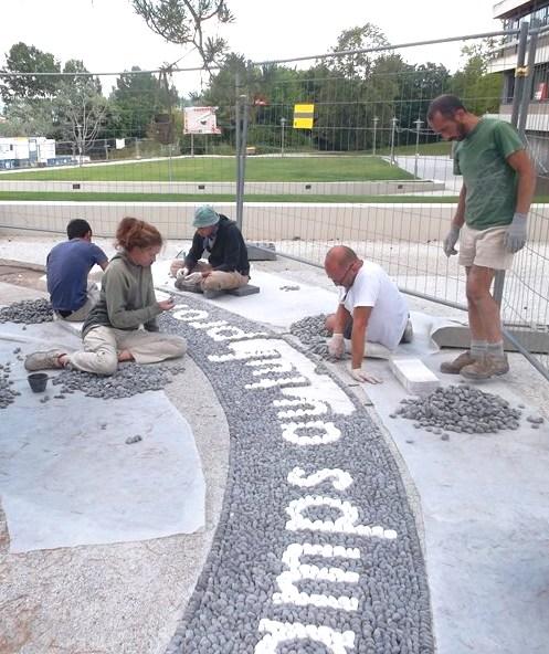 mosaico di ciottoli