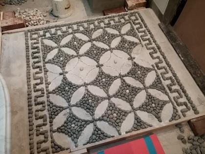 mosaico di ciottoli - risseu
