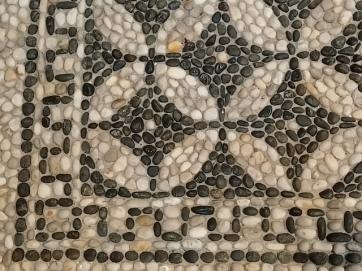 greca di mosaico di ciottoli