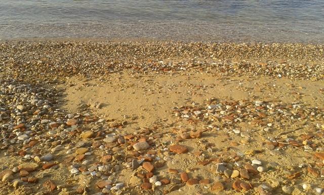 ciottoli sulla spiaggia
