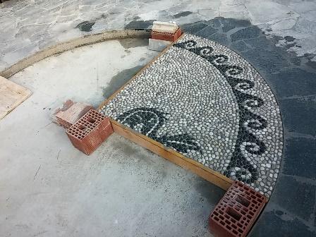 mosaico di ciottoli eros