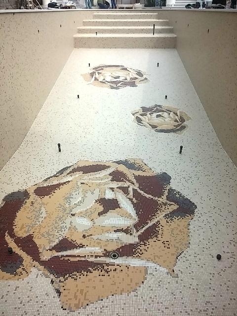 piscina di mosaico