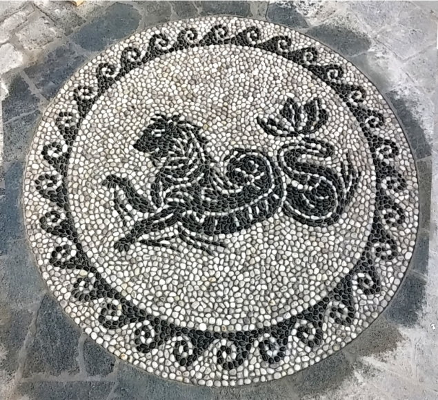 pantera mosaico ciottoli