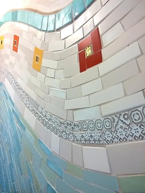 bagno mosaico di piastrelle