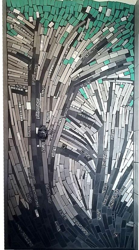 trencadis mosaico di piastrelle broken tiles mosaic