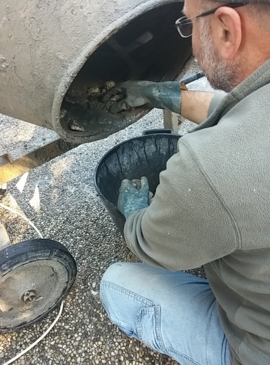 pulizia ciottoli
