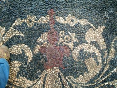 restauro integrativo mosaico di ciottoli