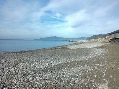 spiaggia di cavi di lavagna